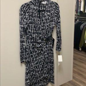 Women's Calvin Klein faux wrap dress